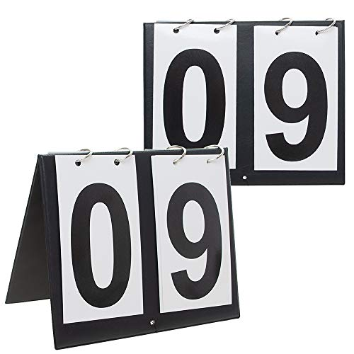 - GOGO 2 Sets Portable Table Top Sports Scoreboards, 00-99-Black Number