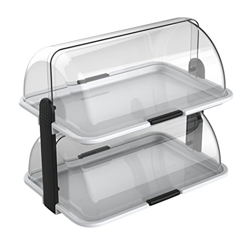 Cuisinox double-Decker Countertop Bakery Display Case, White by Cuisinox