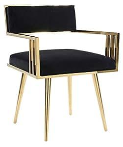 Amazon.com - HomeFun Velvet Arm Chair, Accent Dining Chair