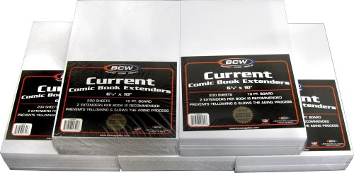 BCW Current Comic Book Extenders - (5 Pack) Comics, Comic Books Archival Storage Collecting Supplies from BCW