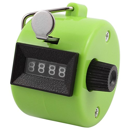 - Portal Cool Office Handheld 4 Digits Display Machine Type Tally Click Pull Counter Green