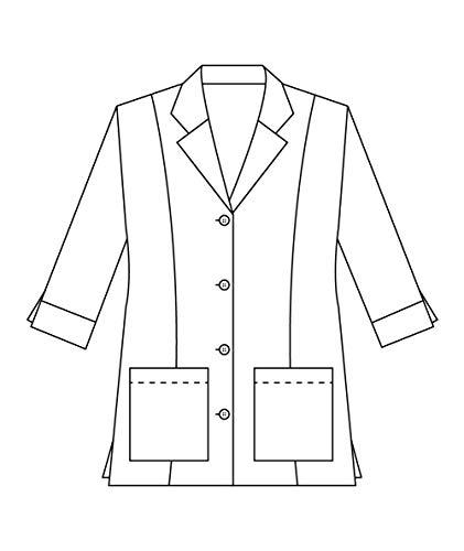Panda Uniform Custom Colored Lab Coat for Women 30 Inch length-Grey-M by Panda Uniform (Image #5)
