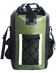 Ultra Dry Waterproof Backpack 25 L, 500D PVC, Reflective Trim, Padded Back Support w/ Cushioned Adjustable Straps...
