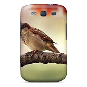 Hot Tpu Cover Case For Galaxy/ S3 Case Cover Skin - Little Bird Wallpaper