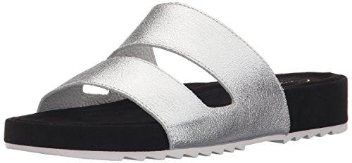 CLARKS Women's Zelby Zest Platform Sandal, Silver, 9 M (Clarks Shoe Outlets)