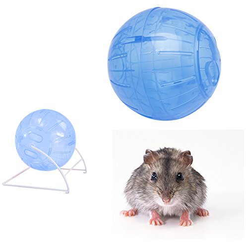 ForHe Pet toys, 5.7inch Run-Over Exercise Ball Plastic Colorful for Small Animal Hamster Mouse - Color Random