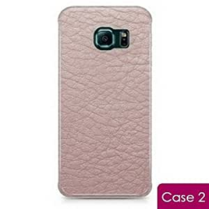 Light Pink Leather Printing Snap On Hard Phone Skin Cover Case for Samsung Galaxy S6 Edge SM-G925 SM-G925F G925T G925P G925R G925V G925W8 - C2S6ELEA17