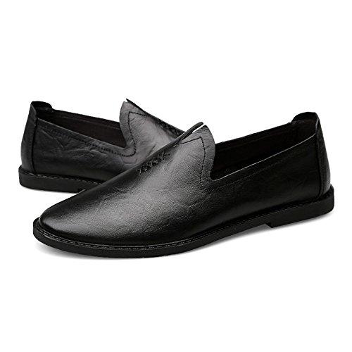 Regalos Los Los Cuero Hombres Hombres De De Clásicos Los Oficiales Zapatos Zapatos Comerciales Yr De Negro r Para Ocasionales Twv6Xqqa
