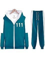 XINXIN 2021 Zuid-Korea Movie Squid Game Merch sweatshirt hoodies ronde Six 001/218/456 Cosplay outfit, mode vrije tijd trainingspak, unisex Halloween kostuum