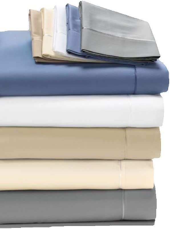 Degree 5 Dreamfit Bamboo Rich Naturally Cooling Sheet Set 100% Made in The USA (Blue, Split California King)