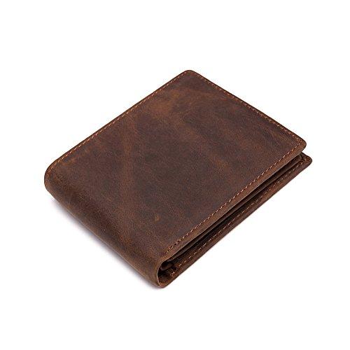 MONHINTY Blocking Vintage Genuine Leather