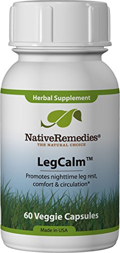 Native Remedies LegCalm - All Natural Herbal Supplement for Rested Legs at Night - Promotes Nighttime Leg Rest, Comfort and Circulation - 60 Veggie Caps