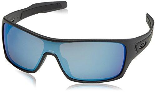Oakley Men's OO9307 Turbine Rotor Rectangular Sunglasses, Steel/Prizm Deep H2O Polarized, 32 ()