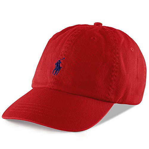 Polo Ralph Lauren Mens Classic Pony Logo Hat Cap (BSR RL2000 Red) One Size