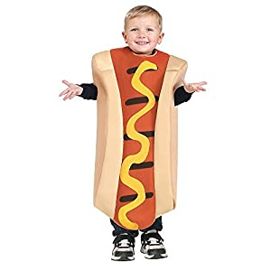 Fun World Unisex Hot Dog Toddler Costume, Multicolor, One Size 3T-4T