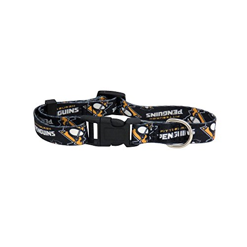 (NHL Pittsburgh Penguins Team Pet Collar, Medium)