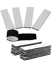 ECENCE 18x zelfklevende pads met klittenband, herbruikbare klittenpad voor auto, huishouden, muren, vloer, extra sterk, bevestiging zonder te boren Zwart