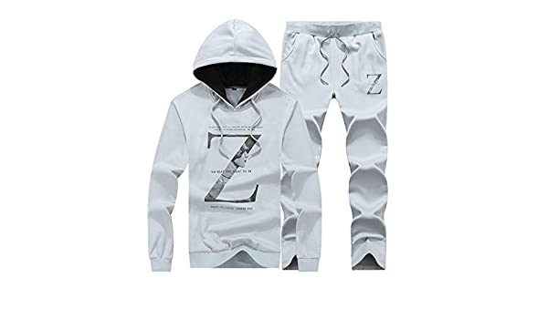 Sharemen Sports Suit Tops Pants Set Men Casual Long Sleeved Alphabetic Printing Hoodie