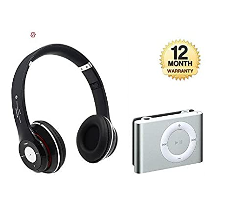 Supreno S460 Wireless Bluetooth 3.0 Stereo Headphone Headset with Bluetooth Metal MP3 Player Headsets