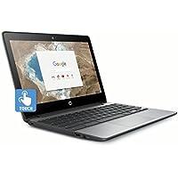 HP 11.6 HD IPS Touchscreen Chromebook (2018 New), Intel Celeron N3060 up to 2.48GHz, 4GB RAM, 16GB eMMC, 802.11ac, HDMI, Bluetooth, USB 3.1, HD Webcam, 11.5 Hr Battery Life, Chrome OS