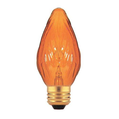 Chandelier Amber Incandescent (Bulbrite 25F15A-8PK 25W Fiesta Style Medium Base, Amber Chandelier Bulb, 8-Pack)
