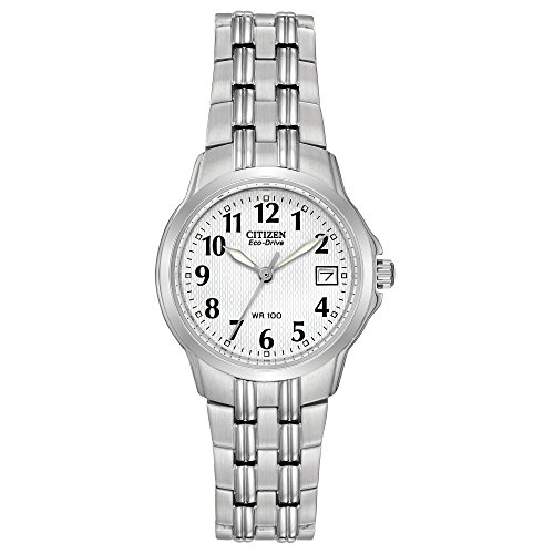 (Citizen Women's EW1540-54A Eco-Drive Silhouette Sport Stainless Steel Watch)