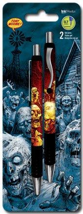 The Walking Dead Zombic Comic Artist Tony Moore Set of Two Gel Pens 0.7mm Black