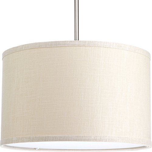 """Progress Lighting P8829-56 Transitional Drum Shade from Markor Collection in Light Finish, 16"""", Khaki"""