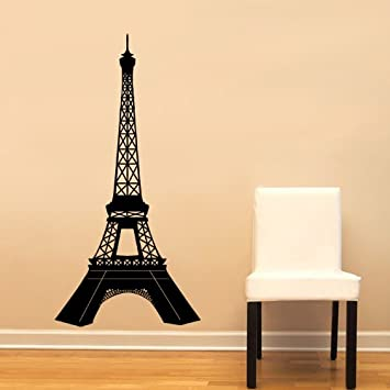 Paris Eiffel Tower Detailed Large Wall Decal Sticker Home Decoration Decor France French