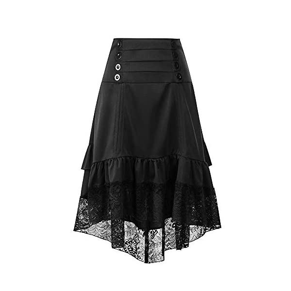 Greatgiftlist Steampunk Gothic Victorian High Low Skirt Bustle Style Sexy Prom Dresses 4