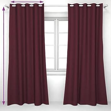 Saustark Design eyelet curtain in burgundy from saustark design münchen munich
