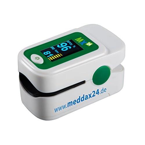 Oxymètre de pouls mx24Ultimate avec 1,04OLED, écran couleur et accessoires Blanc fingerpulsoximeter