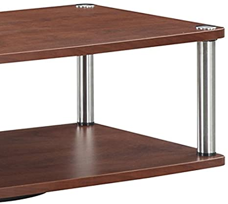 DROPSHIP 191034CH Cherry Convenience Concepts Convenience Concepts Designs2Go 2-Tier TV Swivel Board for Flat Panel TVs Up to 32-Inch or 60-Pounds