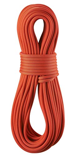 (EDELRID Eagle Lite 9.5mm Pro Dry Dynamic Climbing Rope - Neon Coral 70m )