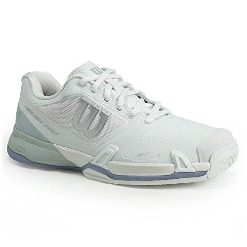(Wilson Women's Rush Pro 2.5 Teenis Shoe (White/Peral Blue/Stonewash, 9.5 M US))