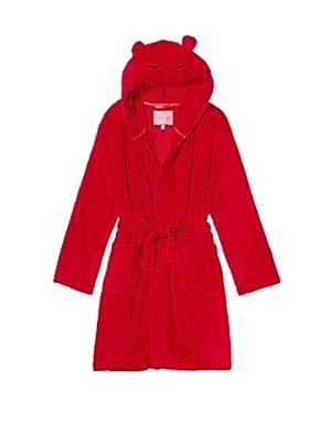 Victoria's Secret Red Snowball Fleece Short Robe- Small