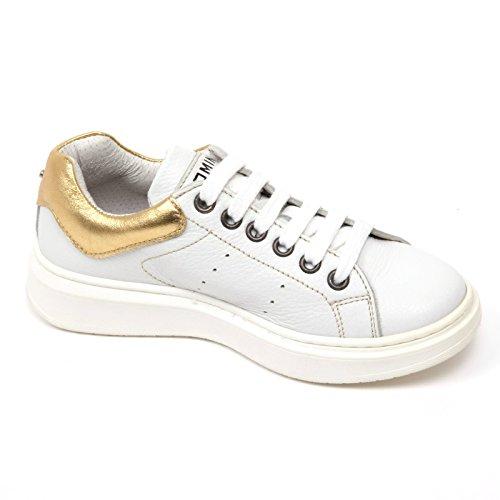 Kid RAM Bianco Momino Scarpa Oro oro C1314 Bianco Bimbo Shoe Sneaker tt8qp