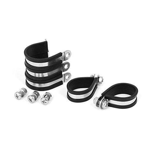 DealMux Clip 32Millimètres P caoutchouc EPDM doublé de montage 5pcs Support pour tuyau tube Câble