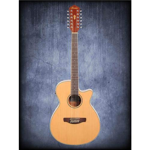 Ibanez AEG1812II 12 String Acoustic-Electric Guitar - Natural (Best Pickups For 12 String Electric Guitar)