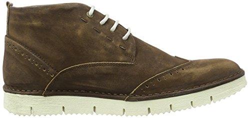 Yellow Cab Crispy M, Zapatos de Cordones Brogue para Hombre marrón
