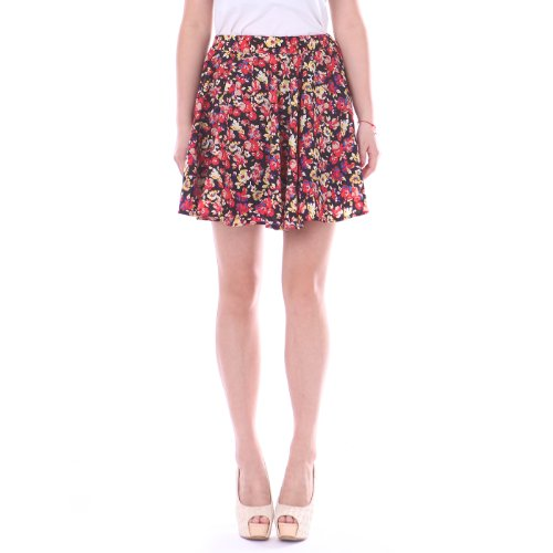 Women's Casual Fashion Flared Pleated A-Line Circle Skater Skirt (Evening Floral, Small) (Disco Themed Clothes)