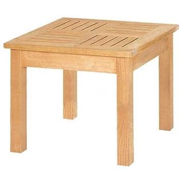 Wonderful Outdoor Side Table, Unfinished Teak Wood