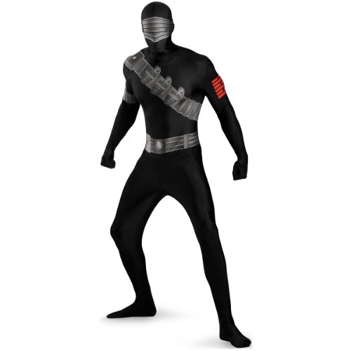 Snake Eyes Deluxe Bodysuit Costume,Black,X-Large/42-46