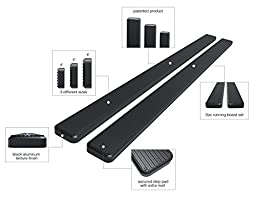 Wheel-to-Wheel (W2W) iBoard Running Boards (Nerf Bars | Side Steps | Step Bars) For 2009-2017 Ram 1500 Crew Cab Pickup 6.5ft Bed & 2010-2017 Ram 2500/3500 | (Black Powder Coated 5 inches WTW)