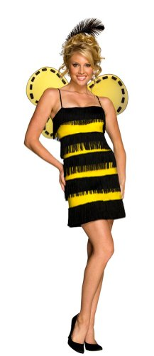Women MED (6-10)- Blk/Yellow- Bee Mine Costume