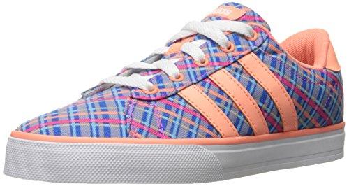adidas neo - mädchen täglich k sneaker, blau / sonne leuchten weiße, m
