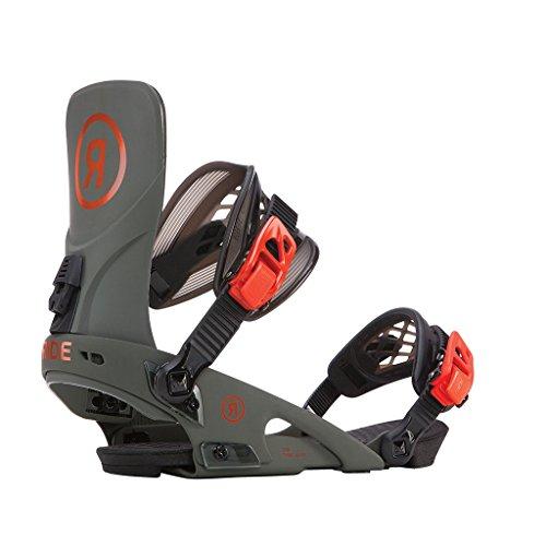 Ride LTD Snowboard Bindings 2018 Olive Xlarge (11-15) (Bindings Ltd)