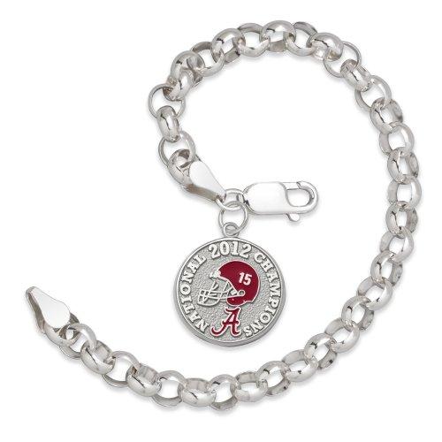 NCAA Alabama Crimson Tide 2012 University of Alabama Football National Champions Enameled Sterling Silver Rollo Bracelet by Logo Art