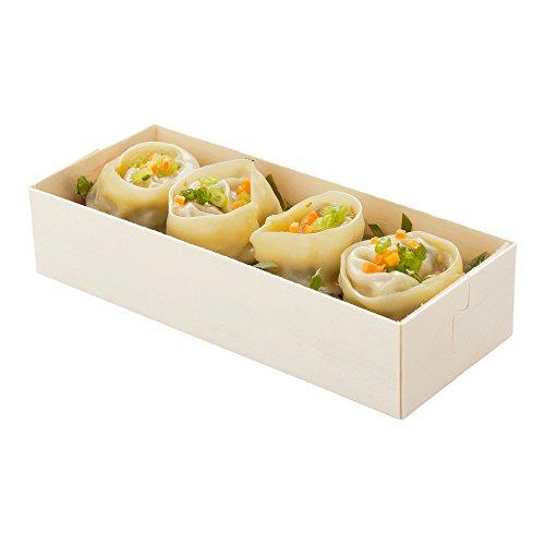 Rectangular Poplar Container, Rectangular Wooden Container, Food Container - 7.25