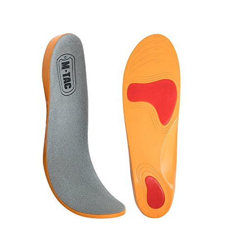 M-Tac Mens Memory Foam Insoles Orthotics Replacement Inserts PU for Athletic Sport Shoes or Military Work Boots Universal Size 7-11